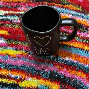 Rae Dunn I❤️Dad Black Mug